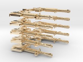 CAR15 SMG SET10 in 14k Gold Plated Brass