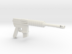 CAR15 COMMANDO FANTASTIC SMG in White Natural Versatile Plastic