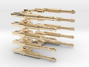 CAR15 COMMANDO FANTASTIC SMG SET10 in 14K Yellow Gold