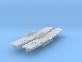 Essex class carrier WWII (Axis & Allies) in Smooth Fine Detail Plastic