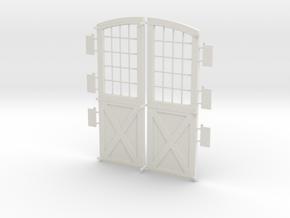 Main Doors DSP&P Gunnison Roundhouse in White Natural Versatile Plastic