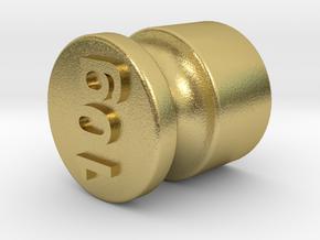 Test weight 10 gram in Natural Brass
