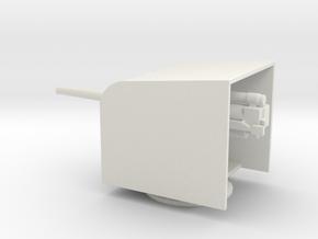 1/87 Scale British 4 Inch BF Mark IX with Shield in White Natural Versatile Plastic
