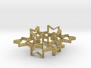 Star of David voronoi bracelet 7.5 inches approxim in Natural Brass (Interlocking Parts)