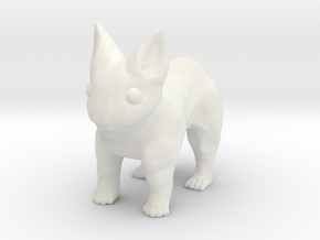Leopabbit Hollow Medium in White Natural Versatile Plastic