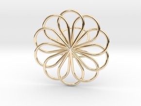 Scarf Brooch in 14k Gold Plated Brass