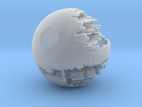 The Death Star II small in Smooth Fine Detail Plastic