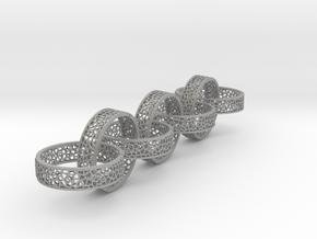 7 4mm voronoi ring in Aluminum