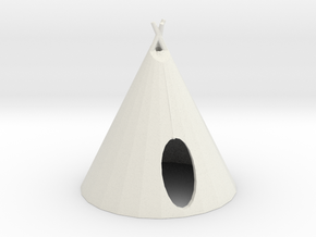 HO Scale Teepee2 in White Natural Versatile Plastic