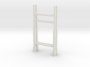 Suspension Bridge Towers - Zscale in White Natural Versatile Plastic