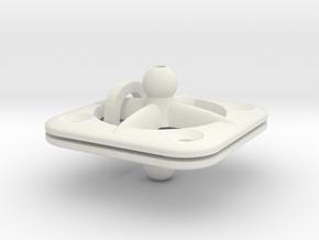 Screw-mount Animation Rig Base for ModiBot in White Natural Versatile Plastic