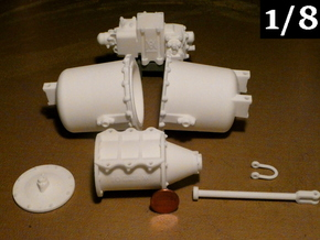 1/8 Scale AB Brake System Set in White Natural Versatile Plastic