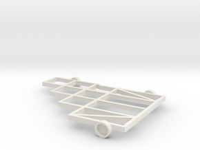 1/64 (s scale) 8 Platform Plow Mainframe in White Natural Versatile Plastic