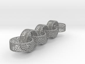 7 8mm rings  voronoi in Aluminum