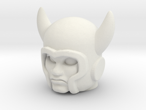 Deevil / Ork Head - Multiscale in White Natural Versatile Plastic: Medium