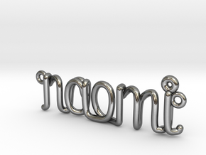 1mm Twisted Wrie Name Necklace in Polished Silver