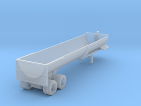 End Dump Trailer - Zscale in Smooth Fine Detail Plastic