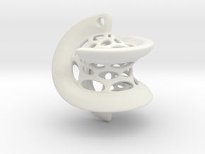 Hexasphericon Pendant in White Natural Versatile Plastic
