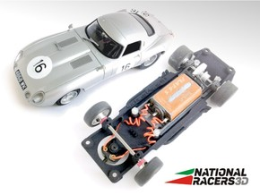 3D Chassis - Revell Jaguar E-Type (Inline) in Black Natural Versatile Plastic