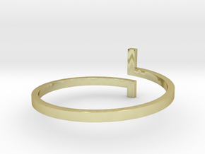 HESTIA - Bracelet  in 18k Gold Plated Brass: Extra Small