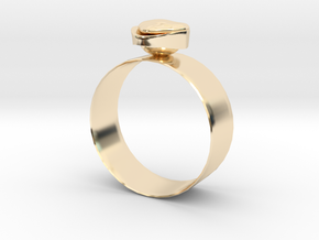 """GoldRing """"Heart"""" in 14K Yellow Gold"""
