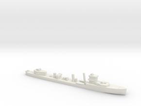 HMS Vega 1:1800 WW2 naval destroyer in White Natural Versatile Plastic