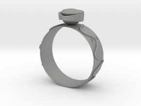 GoldRing Heart version2 in Gray PA12