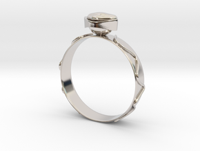 """GoldRing version 3a """"Heart""""  in Platinum"""