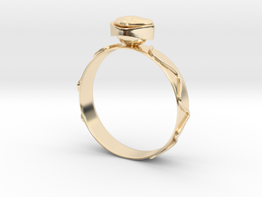 """GoldRing version 3a """"Heart""""  in 14k Gold Plated Brass"""