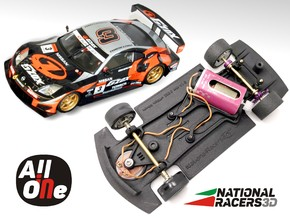 3D Chassis - NINCO Nissan 350Z (Anglewinder-AiO) in Black Natural Versatile Plastic