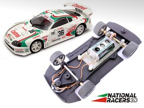 3D Chassis - Ninco Toyota Supra (Combo) in Black Natural Versatile Plastic