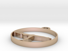 yoga  in 14k Rose Gold Plated Brass