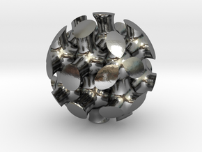 Bone Sphere in Polished Silver