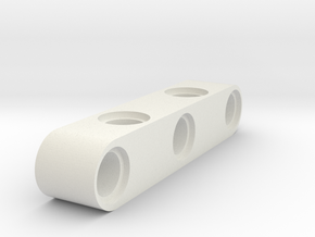 5 Beam 90 Degrees Holes in White Natural Versatile Plastic