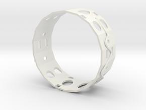 Gold Ear Ring in White Natural Versatile Plastic