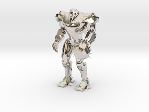 Pacific Rim Titan Redeemer Jaeger Miniature in Rhodium Plated Brass