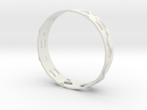 Gold Ring in White Natural Versatile Plastic