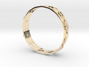 Gold Ring in 14k Gold Plated Brass