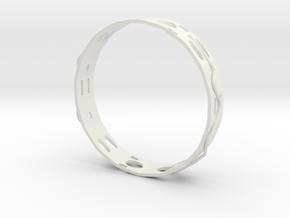 Ring , Ear Ring ,  Pendant on Neck ,  SET Number3 in White Natural Versatile Plastic