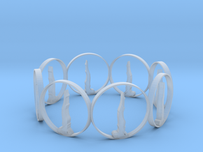 7 ring in Smooth Fine Detail Plastic