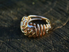 """Ring """"Wave"""" in Polished Brass"""