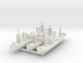 IJN Transports x3 (FUD) in White Natural Versatile Plastic: 1:1800