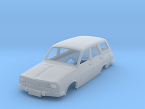 Dacia 1300 Break (Renault 12) Body Scale 1:120 in Smooth Fine Detail Plastic
