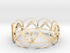 7 ring in 14K Yellow Gold