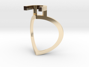 Chillida Engagement Ring in 14k Gold Plated Brass: Medium