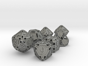 Large Premier Dice Set with Decader in Gray Professional Plastic