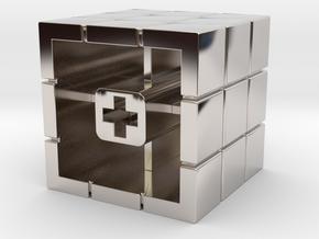 Artisan Cherry keycap Rubiks Cube in Platinum