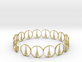 6 ring in Natural Brass