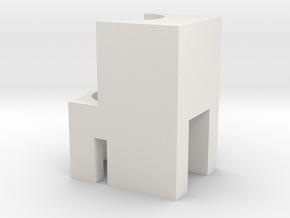 ICS L85 V6 M4 hopup adapter in White Natural Versatile Plastic