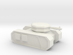 Sci-fi Tank 2 in White Natural Versatile Plastic